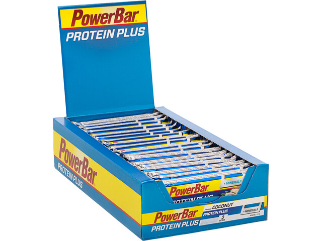 PowerBar ProteinPlus + Minerals Bar Box 30x35g, Coconut